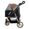 Изображение Ibiyaya Коляска Monarch Premium для собак и кошек до 28 кг тёмно-золотая